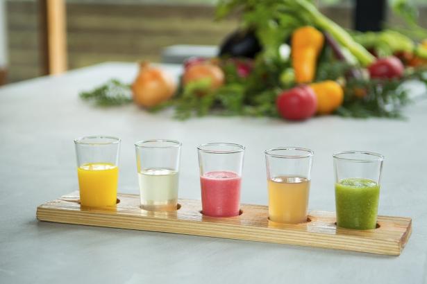 朝食のおすすめ 《フレッシュ野菜ジュース》