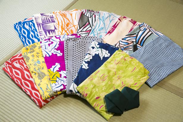 竹下夢二デザインの色浴衣をご用意