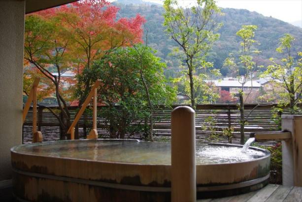 眺望抜群の6階大浴場