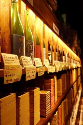 好きなお酒を見て触って選んでください。