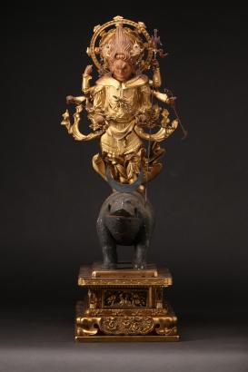 武士の守護神として信仰された摩利支天像