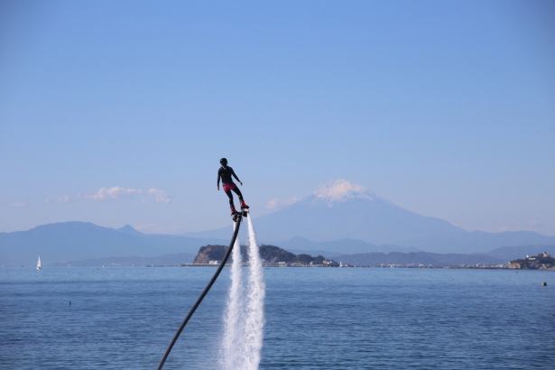 富士山と江の島を臨む最高のロケーション